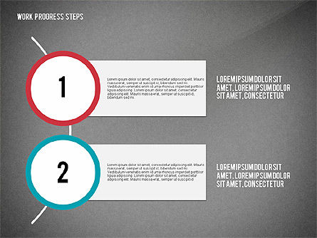Work Progress Steps, Slide 12, 02533, Stage Diagrams — PoweredTemplate.com