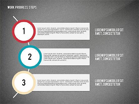 Work Progress Steps, Slide 13, 02533, Stage Diagrams — PoweredTemplate.com