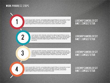 Work Progress Steps, Slide 14, 02533, Stage Diagrams — PoweredTemplate.com