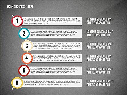 Work Progress Steps, Slide 16, 02533, Stage Diagrams — PoweredTemplate.com