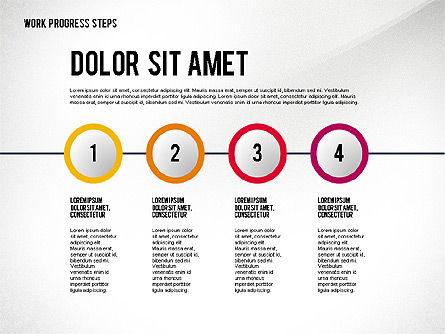 Work Progress Steps, Slide 2, 02533, Stage Diagrams — PoweredTemplate.com