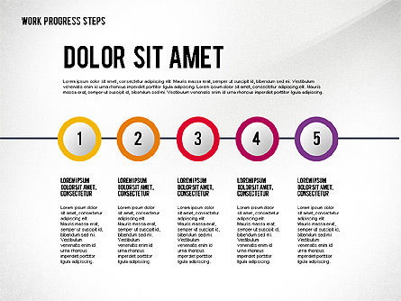 Work Progress Steps, Slide 3, 02533, Stage Diagrams — PoweredTemplate.com