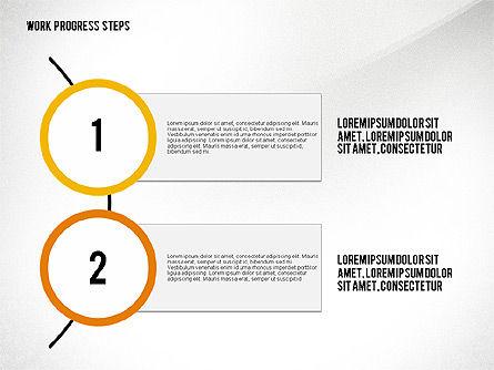 Work Progress Steps, Slide 4, 02533, Stage Diagrams — PoweredTemplate.com