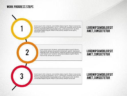 Work Progress Steps, Slide 5, 02533, Stage Diagrams — PoweredTemplate.com