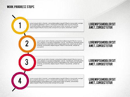 Work Progress Steps, Slide 6, 02533, Stage Diagrams — PoweredTemplate.com