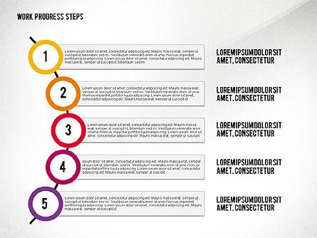 Work Progress Steps, Slide 7, 02533, Stage Diagrams — PoweredTemplate.com