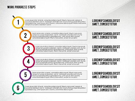 Work Progress Steps, Slide 8, 02533, Stage Diagrams — PoweredTemplate.com