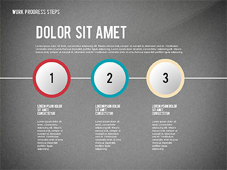 Work Progress Steps, Slide 9, 02533, Stage Diagrams — PoweredTemplate.com