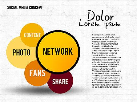 Social Media Network Concept, Slide 3, 02535, Presentation Templates — PoweredTemplate.com
