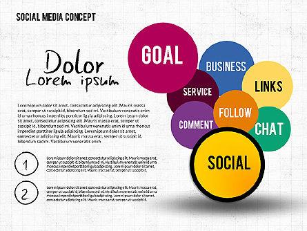 Social Media Network Concept, Slide 4, 02535, Presentation Templates — PoweredTemplate.com