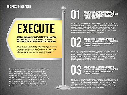 Business Directions, Slide 14, 02536, Text Boxes — PoweredTemplate.com
