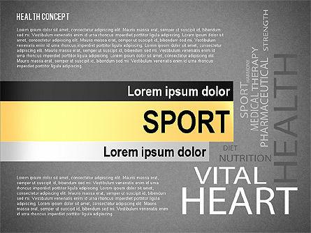 Health Concept Presentation Template, Slide 12, 02537, Presentation Templates — PoweredTemplate.com