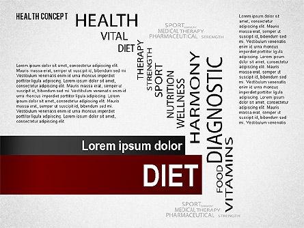 Health Concept Presentation Template, Slide 8, 02537, Presentation Templates — PoweredTemplate.com