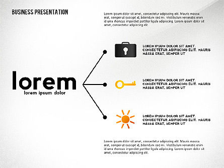 Presentation Concept with Thin Lines, 02538, Presentation Templates — PoweredTemplate.com
