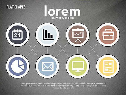 Network Concept with Flat Icons, Slide 10, 02540, Presentation Templates — PoweredTemplate.com