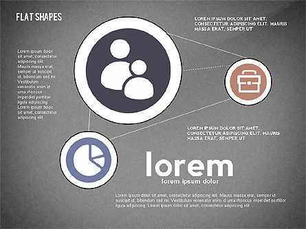 Network Concept with Flat Icons, Slide 11, 02540, Presentation Templates — PoweredTemplate.com