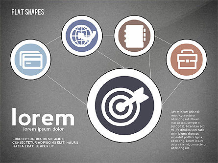 Network Concept with Flat Icons, Slide 13, 02540, Presentation Templates — PoweredTemplate.com