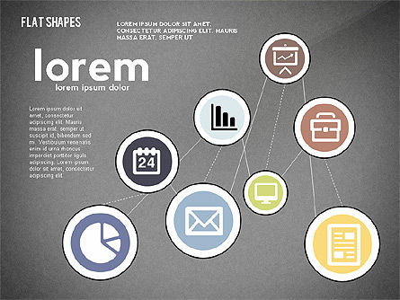Network Concept with Flat Icons, Slide 16, 02540, Presentation Templates — PoweredTemplate.com