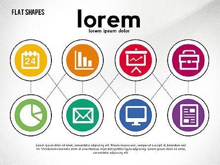 Network Concept with Flat Icons, Slide 2, 02540, Presentation Templates — PoweredTemplate.com
