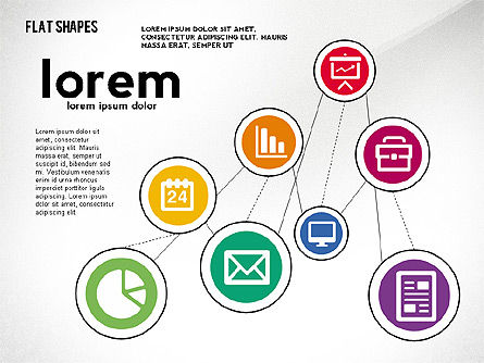 Network Concept with Flat Icons, Slide 8, 02540, Presentation Templates — PoweredTemplate.com