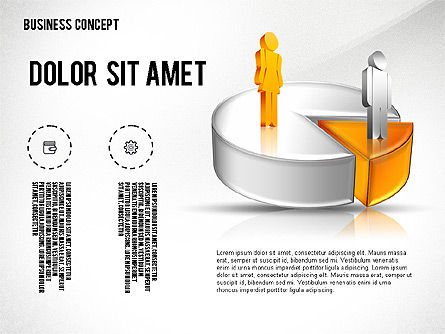 Presentation Templates: Presentation with 3D Pie Chart #02541
