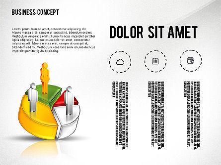 Presentation with 3D Pie Chart, Slide 2, 02541, Presentation Templates — PoweredTemplate.com