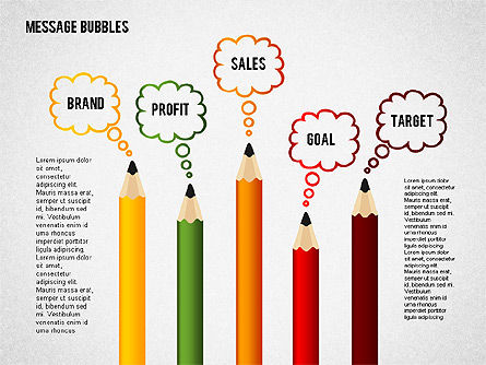 Presentation Templates: Presentation with Message Bubbles and Pencils #02542