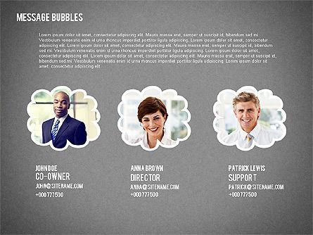 Presentation with Message Bubbles and Pencils, Slide 10, 02542, Presentation Templates — PoweredTemplate.com