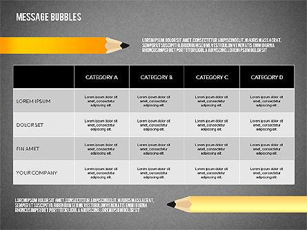 Presentation with Message Bubbles and Pencils, Slide 16, 02542, Presentation Templates — PoweredTemplate.com