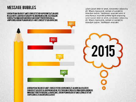Presentation with Message Bubbles and Pencils, Slide 4, 02542, Presentation Templates — PoweredTemplate.com