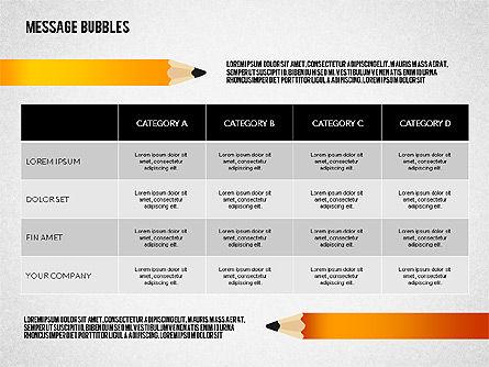 Presentation with Message Bubbles and Pencils, Slide 8, 02542, Presentation Templates — PoweredTemplate.com