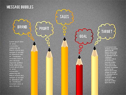 Presentation with Message Bubbles and Pencils, Slide 9, 02542, Presentation Templates — PoweredTemplate.com