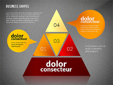 Infographic Style Business Shapes Toolbox, Slide 10, 02543, Business Models — PoweredTemplate.com