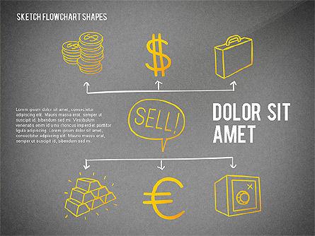 Financial and Management Flowchart Toolbox, Slide 14, 02545, Flow Charts — PoweredTemplate.com
