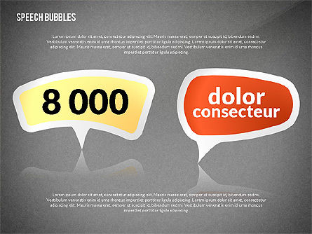 Colorful Speech Bubbles, Slide 12, 02548, Text Boxes — PoweredTemplate.com