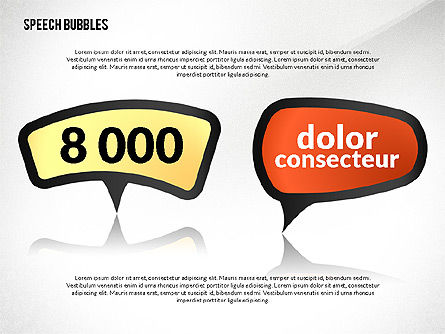 Colorful Speech Bubbles, Slide 4, 02548, Text Boxes — PoweredTemplate.com