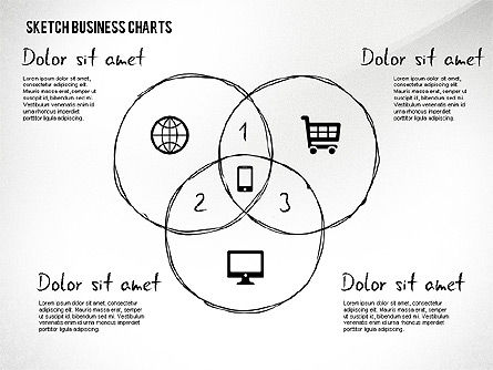 Charts in Sketch Style, Slide 2, 02551, Business Models — PoweredTemplate.com