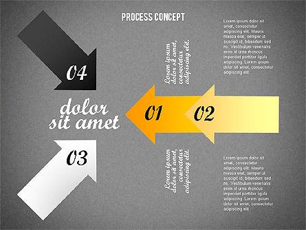 Process Arrows Collection, Slide 10, 02553, Process Diagrams — PoweredTemplate.com