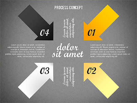 Process Arrows Collection, Slide 13, 02553, Process Diagrams — PoweredTemplate.com