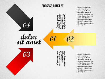 Process Arrows Collection, Slide 2, 02553, Process Diagrams — PoweredTemplate.com