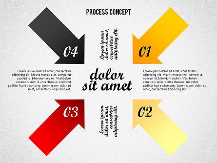 Process Arrows Collection, Slide 5, 02553, Process Diagrams — PoweredTemplate.com