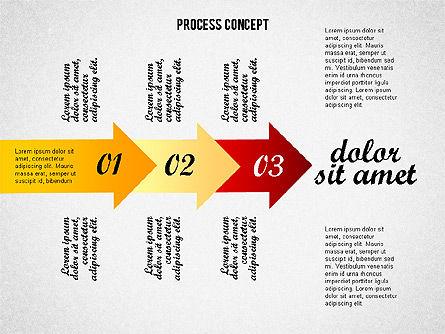 Process Arrows Collection, Slide 7, 02553, Process Diagrams — PoweredTemplate.com