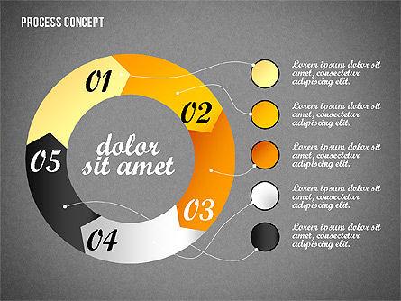 Process Arrows Collection, Slide 9, 02553, Process Diagrams — PoweredTemplate.com