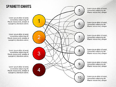 Spaghetti chart toolbox for powerpoint presentations for Free spaghetti diagram template