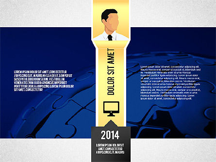 Top Management Presentation Template, Slide 2, 02556, Presentation Templates — PoweredTemplate.com