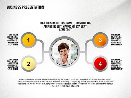 Business Results Presentation Template, 02559, Presentation Templates — PoweredTemplate.com