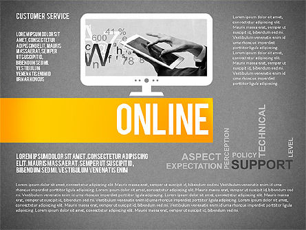 Customer Service Presentation Template, Slide 14, 02560, Presentation Templates — PoweredTemplate.com