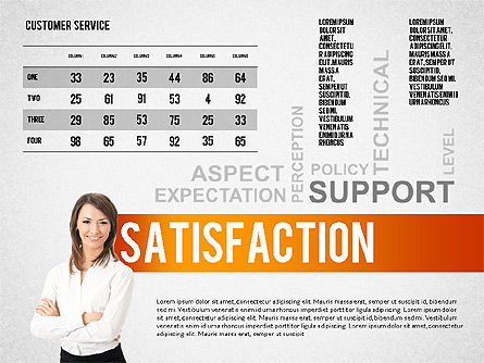 Customer Service Presentation Template, Slide 4, 02560, Presentation Templates — PoweredTemplate.com
