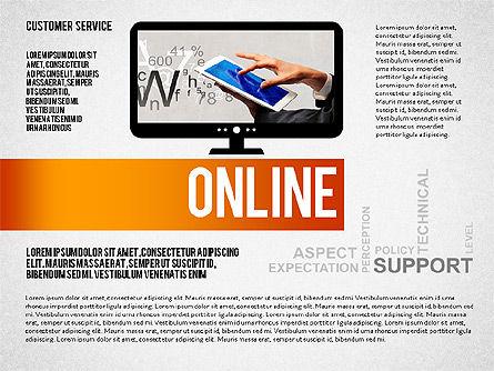 Customer Service Presentation Template, Slide 6, 02560, Presentation Templates — PoweredTemplate.com