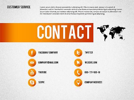 Customer Service Presentation Template, Slide 8, 02560, Presentation Templates — PoweredTemplate.com